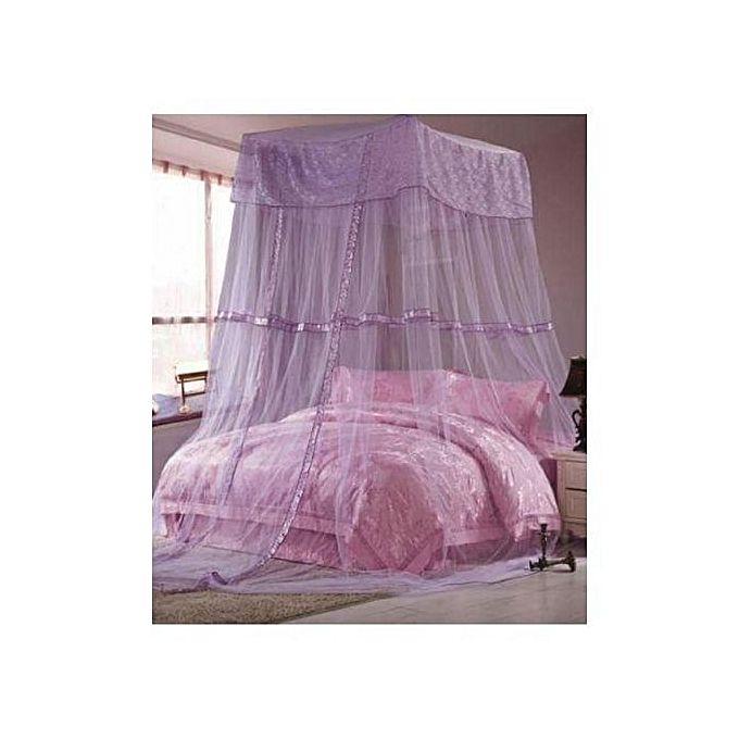 Square top mosquito net purple free size