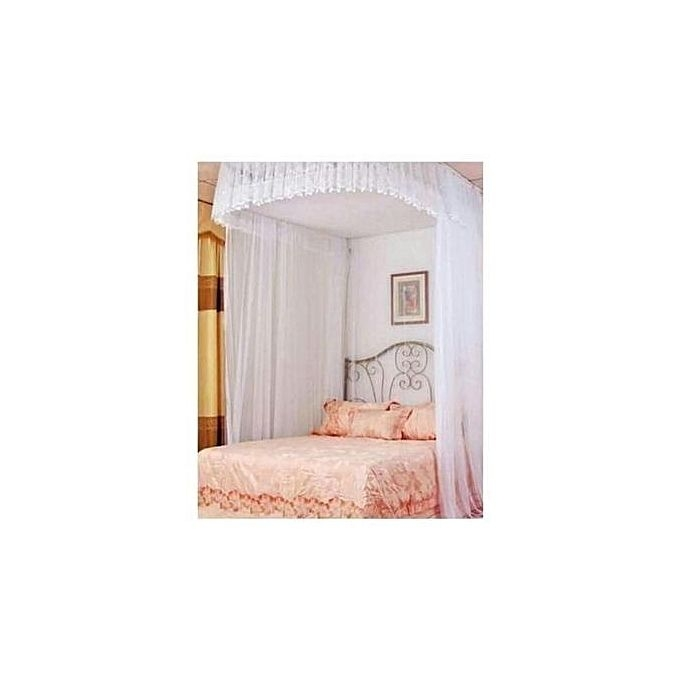 2stand mosquito net with rails white 5*6
