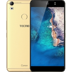 "TECNO Camon CX: 5.5"" Screen, 16 GB ROM + 2GB RAM, 3200mAh Battery Smartphone Luxurious Gold"