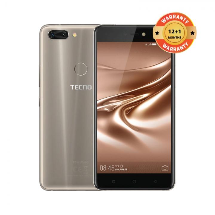 "TECNO Phantom 8, 12MP&13MP Dual-Rear + 20MP Front Camera, 6GB RAM +64GB ROM, 5.7"" Screen Smartphone Champagne Gold"