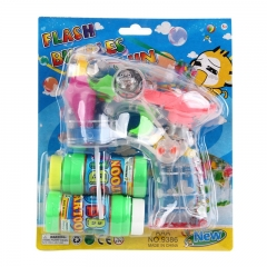 Flash Bubble Gun Shooter LED light Toy for Kids, + 2 more FREE Bubble Solutions Multicolored 17cm * 16 cm