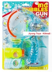Big Bubble Gun Flashing Toy for Kids, + 2 more FREE Bubble Solutions multicolored 6.5 * 2 * 6.5 Inches
