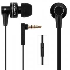Awei ES900i - In-Ear Earphones [Clear Bass] with Mic -Black Black