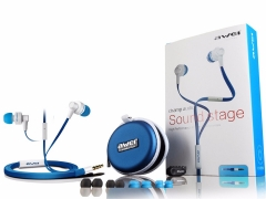Awei ES700i - High Permance Earphone With Mic - White & Blue black
