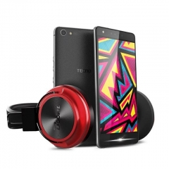TECNO Boom Headphones Black and Red