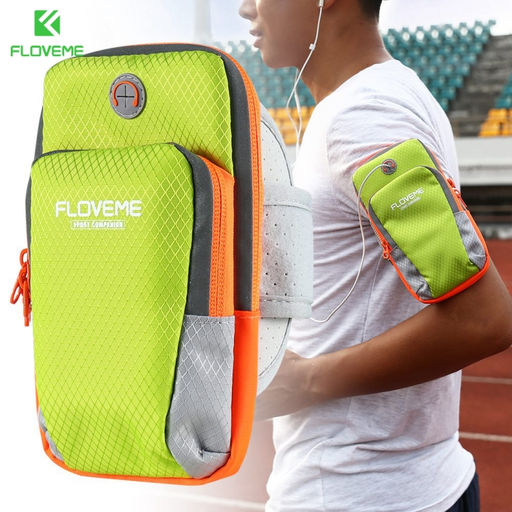 Outdoor Armband Arm Band Case Wrist Bag Strap Pouch Phone Holder - Green normal green