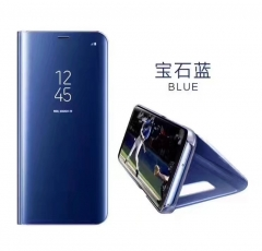 Generic Samsung Galaxy S7 Edge Luxury Flip Standing Clear View Smart Mirror Case Black black one