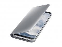Samsung Galaxy S8 Plus Clear View Standing Cover silver 71.1x 150.2 x 13.5mm