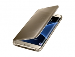 Samsung Galaxy S7 Edge Clear View Cover gold