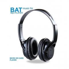 BAT Music SD Card Headphones with FM black