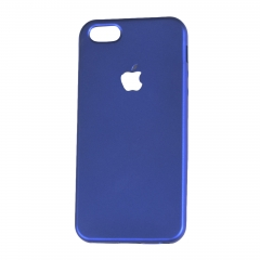 Iphone 5/5S Rubber Back Cover Case blue 123.8 x 58.6 x 7.6 m