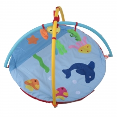 Baby Play Mat With Soft Toys Blue 45.0 x 30.0 x 20.0