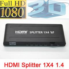 HDMI Splitter 1 x 4 - Black Black