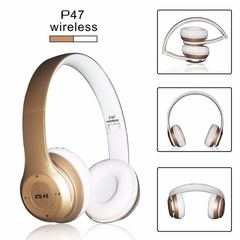 P47 Wireless Bluetooth Stereo Over-Ear Headphones Gold