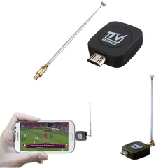 Generic Mini Digital DVB-T Micro USB Mobile HD TV Tuner Stick Receiver for Android phone - Black black 78.74 x 38.1 x 5.08mm