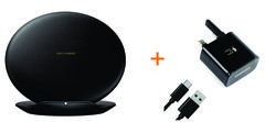 Samsung Galaxy S8/S8 Plus Wireless Charger Stand Convertible with Adapative Fast Charger- black black 117.4 x 28.6 x 117.4