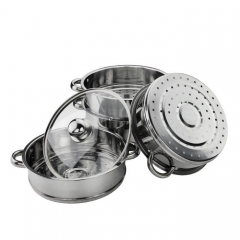 Cooking Steamers Tools Stainless Steel Kitchenware Set Cookware Pot 5 Layers one 30cm