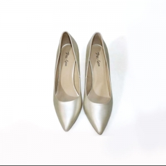 Des.Gem High Quality Classic Heel Woman Girl  13CM Heel Shoe Valentine's Day Gift for Party Wedding Light Gold 42