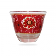 Party Glass Glass Cup for Wine Coffee Tea Juice Water Cup 12*1 red small