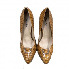 Des.Gem High Quality Classic Heel Woman Girl Nice Shoe Yellow Soil 39