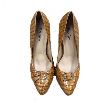 Des.Gem High Quality Classic Heel Woman Girl Nice Shoe Yellow Soil 37