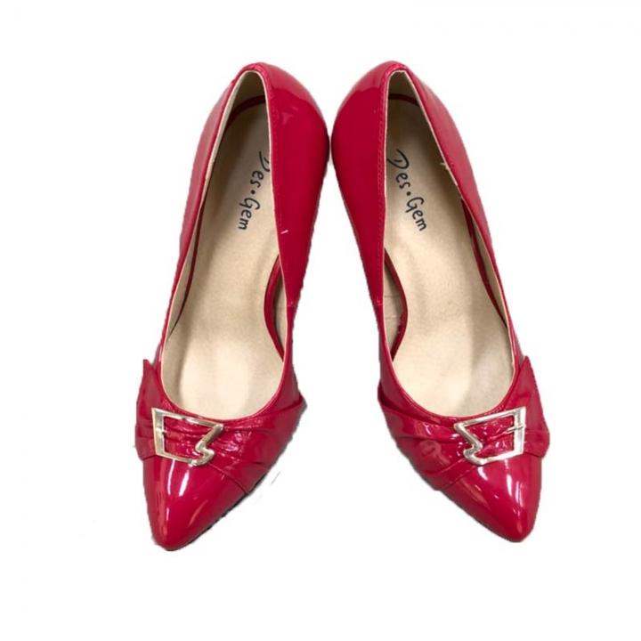 Des.Gem High Quality Classic Heel Woman Girl Nice Shoe Red 38