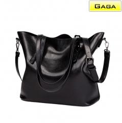 Gaga Brand - Women's  Handbags Simple Fashion PU black m