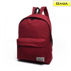 Gaga Brand - Lady Backpacks Double Shoulder Bag Leisure Travel Bookbags Canvas gules m