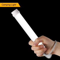 LED Flashlight,USB Rechargeable Outdoor Camping with 5 Adjustable Brightness Modes White Cylinder