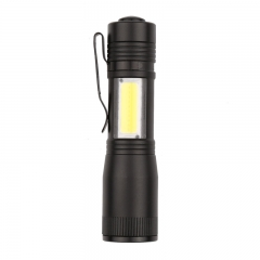 LED COB Work Light, Inspection Light Lamp Hand Torch Magnetic (Orange) Black 3W