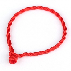 Handmade Jewelry Red Rope Bangle Lucky Bracelets for Women and Men on Hands or Legs Red 19cm