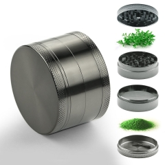2.5 Inches Zinc Manual Herb Grinder with Magnetic Top and Pollen Catcher normal normal