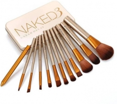 NAKED 3 BRUSH SET Silver and brown