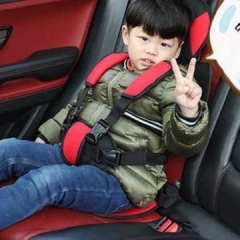 ABY CAR SEAT Blue and Black 77cm by 35 cm BLACK/RED 77*35CM