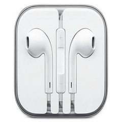 In-Ear Earphones with Volume Control White