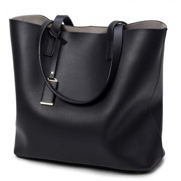 Manja Fashion New Luxury Women Female Ladies Shoulder Handbag black black big bag