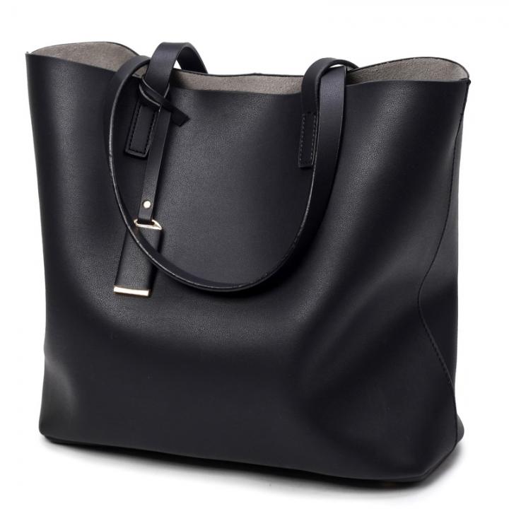 Manja Fashion New Luxury Women Female Ladies Shoulder Handbag black big bag