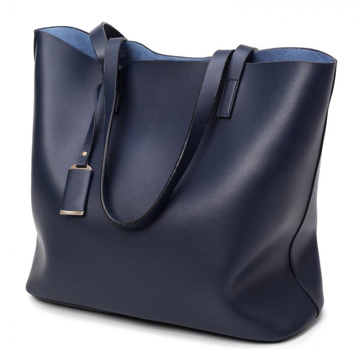 Manja Fashion New Luxury Women Female Ladies Shoulder Handbag blue big bag