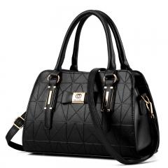 Manja 2018 fashion women's bag girl's bag handle bag shoulder bag black one size