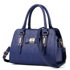 Manja 2018 fashion women's bag girl's bag handle bag shoulder bag blue one size