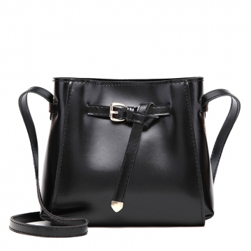 Manja New fashion women's small crossbody bags over the shoulder women handbag Bucket Shoulder Bags black one size
