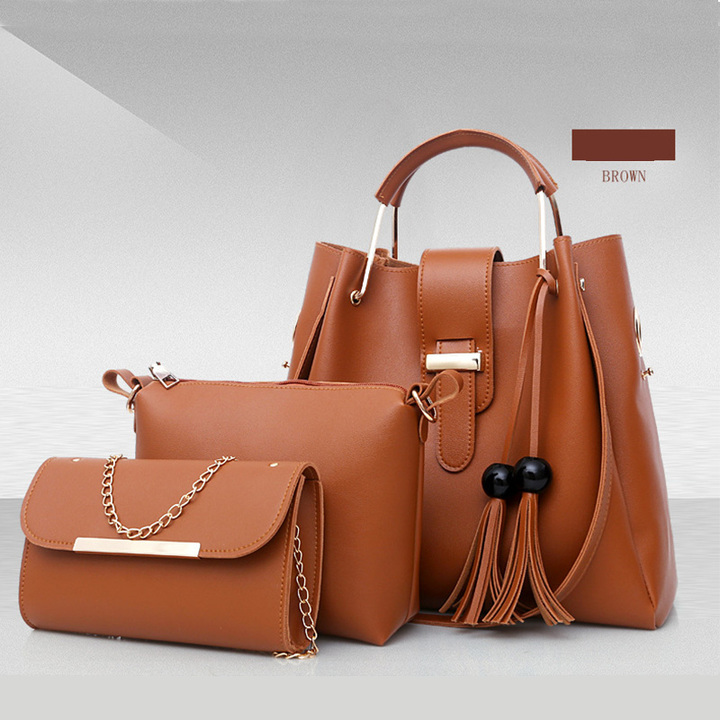 Manja women fashion handbags sets bags brown sets bags