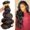 3 Bundle Peruvian Body Wave 8-30 inches Black 100% Human Hair Weave Bundle #1b black 10 10 10 inch