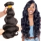 3 Bundle Peruvian Body Wave 8-30 inches Black 100% Human Hair Weave Bundle #1b black 16 16 16 inch