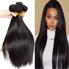 "3 Pieces Brazilian Straight Human Hair Bundles 100% Human Hair Weave Black Color 8""- 30"" #1b black 26 28 30 inch"
