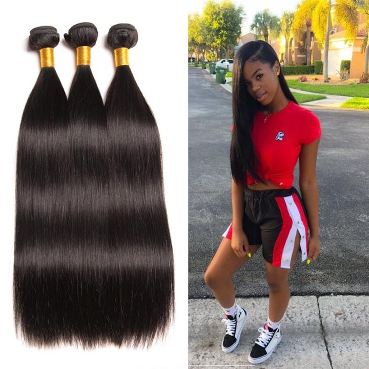 Kilimall Peruvian Straight 3 Bundles Human Hair 8 30 Inches 100