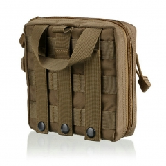 Tactical Pouches Medical EMT First Aid Kit Pouch Tactical Storage Bag EDC Hanging Waist Bags khaki one size
