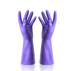 Dishwashing Latex Gloves Waterproof Rubber Gloves for Car-washing Laundry Household 1 Pair purple one size