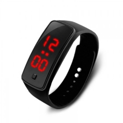 LED Digital Bracelet Watch Sport Silicone Strap Wristwatch Smart watch 120mm-220mm black 160-220mm