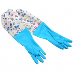 Long Sleeve Gloves Dishwashing Latex Gloves Cleaning Gloves Household Car Washing Gloves 1 Pair blue one size